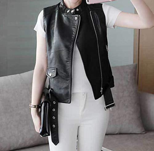 donna Giubbotto gilet senza Gilet con Nero Qiuyi giacca versatile maniche SED xfYdqw6f