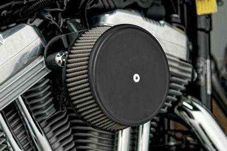 - Arlen Ness Big Sucker Stage I Scalloped Billet Air Filter Cover for Harley Davidson - One Size