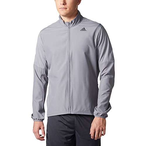 adidas Men's Nova Running Jacket (Grey, XX-Large)