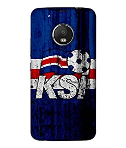 ColorKing Football Iceland 02 Blue shell case cover for Motorola Moto G5 Plus