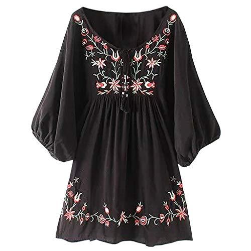T-Shirt Dress Summer Cold Shoulder Floral Flowy Floral