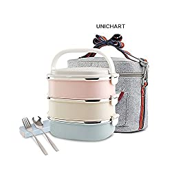Update Unichart Stainless Steel Square Lunch Box, Lock...