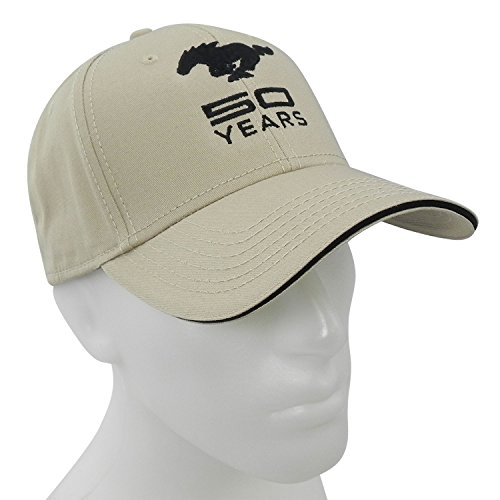 Ford Mustang 50th Years Anniversary Beige Baseball Hat