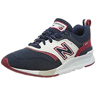 New Balance Men's 997H V1 Sneaker, Natural Indigo/Varsity Orange, 7 M US
