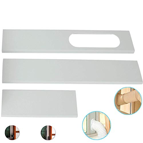 Luckfind Portable AC Replacement Window Bracket,Window Seal for Portable Air Conditioner,Window Slide Kit Plate