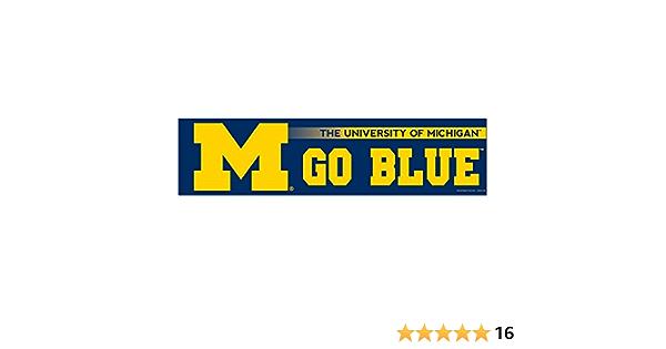 Powdraw Stickers M GO Blue Vinyl Decal University of Michigan Vinyl Decal ////2-Pack////Michigan Wolverines Bumper Sticker Indoor Outdoor