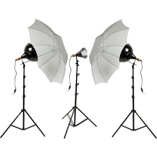 Impact Tungsten Three-Floodlight Kit with 6' Stands by Impact