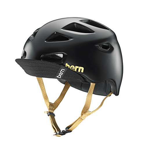 - BERN - Melrose Helmet, Satin Black w/Flip Visor, Medium