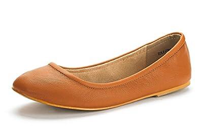 DREAM PAIRS Women's Sole-FINA Solid Plain Walking Classic Ballet Flats Shoes