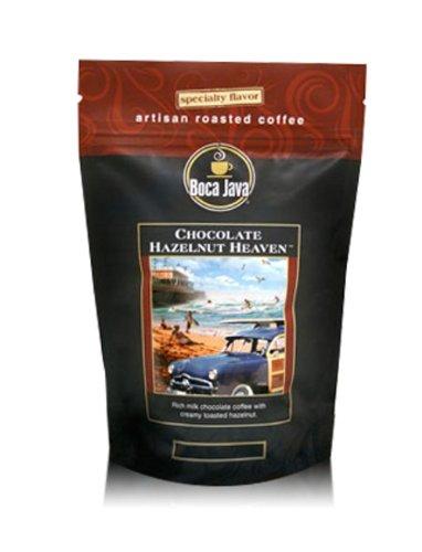 (Decaf Chocolate Hazelnut Heaven Coffee, Chocolate and Hazelnut Flavored Decaf Coffee, Whole Bean, 8oz (2)