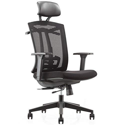 Chair 1 Tilt Synchro (CUBOC Ergonomic Mesh High-Back Ultra Computer Office Chair with 2-to-1 Synchro-Tilt Control, Seat Glide, Big & Tall Executive Chair with PU Headrest, Adjustable Arms and Suit Hangers (W/Headrest-2))