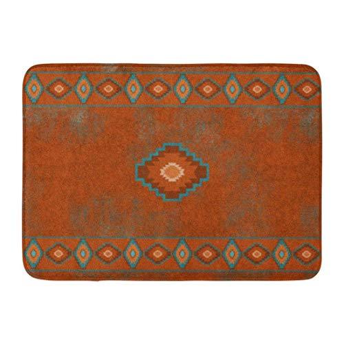 Coolest Secret Bath Mat Red Western Southwest Canyons Diamond Santa Tribal Native Desert Bathroom Decor Rug 16