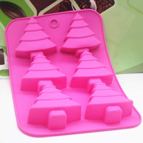 1 piece 6C Silicone Christmas tree Cake Chocolate Soap Pudding Jelly Candy Ice Cookie Biscuit Mold Mould Pan Bakeware Wholesales