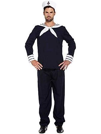 Adults Mens Blue White Navy Sailor Fancy Dress Costume  sc 1 st  Amazon UK & Adults Mens Blue White Navy Sailor Fancy Dress Costume: Amazon.co.uk ...