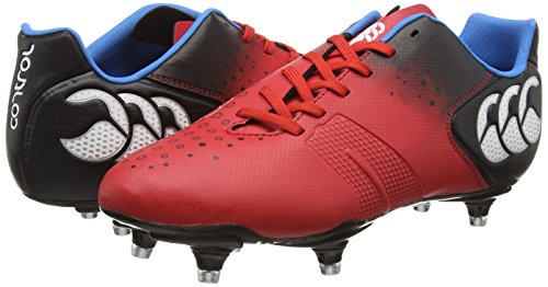 Canterbury de Rugby Chaussures Club Control Stud 6 Rouge 438 Homme TaST6xw