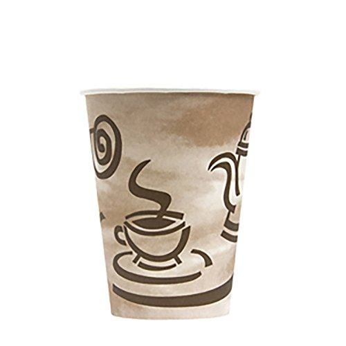 (Empress EHC12-P Paper Hot Cup with Coffee Design, 12 oz. Capacity, 18