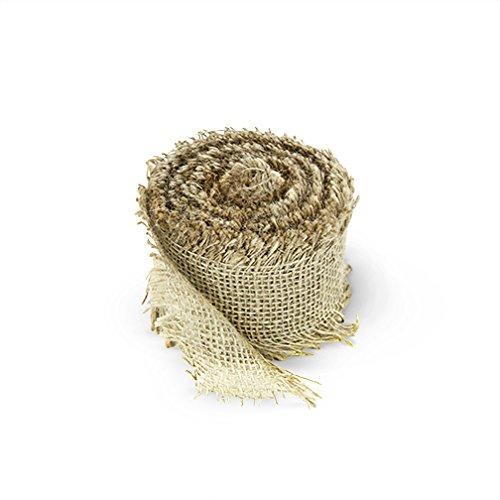 Craft Jute Burlap Ribbon, 2 Inch by 10 (Gauze Ribbon)