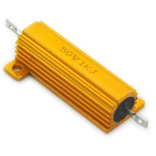 Electronics-Salon 2PCS 1K OHM 50W Wirewound Aluminum Housed - Ohm Wirewound Resistors