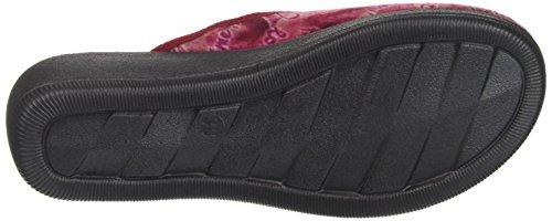 Inblu CL000073, Pantofole Aperte sulla Caviglia Donna, Rosso (Bordeaux), 36 EU