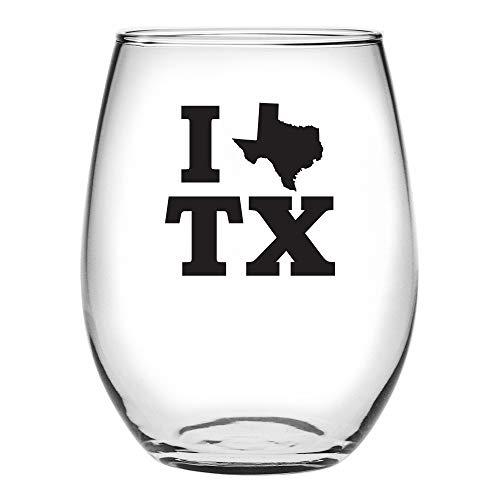 Susquehanna Glass I Heart Texas Stemless Wine Glass -