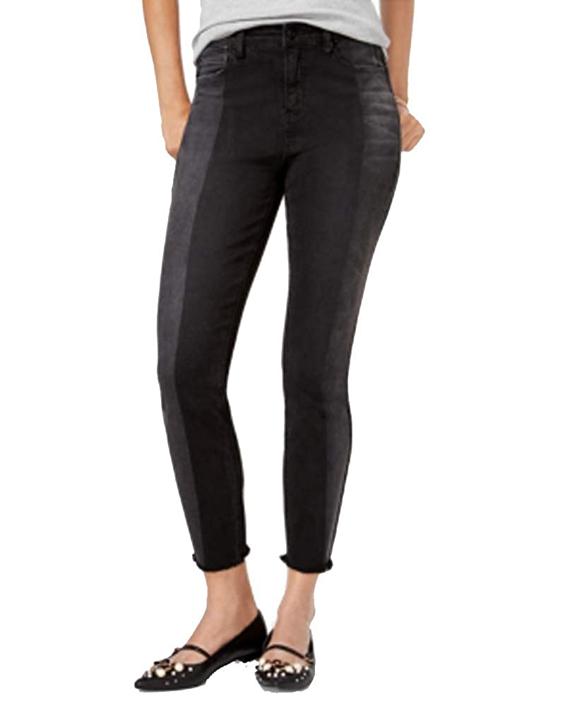 Vanilla Star Juniors Two-Tone Shadow Stripe Skinny Jeans