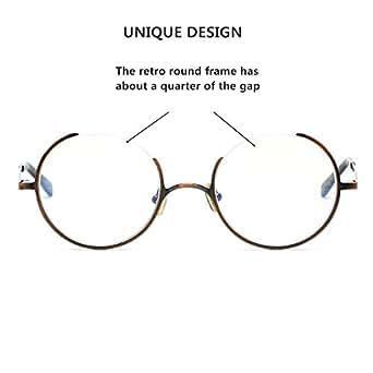 fd152fce1c Amazon.com  SO SMOOTH WIND Glasses Frame Three Fourths Round Retro ...