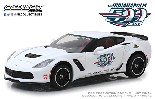 Greenlight 18252 1: 24 2015 Indianapolis 500 Pace Car - 2015 Chevrolet Corvette Z06