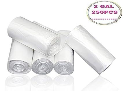 Amazon.com: 7-almond 2 galones pequeñas bolsas de basura ...