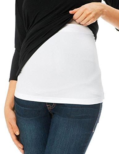 Gratlin Women's Soft Seamless Maternity Bellaband Pregnancy Support Band White. XL