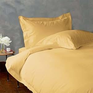Lacasa Bedding 100 Percent Egyptian Cotton Duvet Set 600 TC Solid (Cal-Queen , Gold)