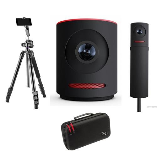 Mevo Live Event Camera by Livestream, Black - Bundle Boost Livestream, Case for Live Event Camera - Flip-Zip Multi-Functional Photo Tripod from Mevo