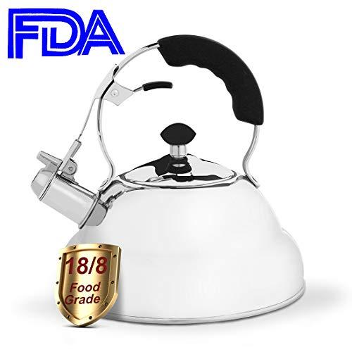 EMONIA Whistling Tea Kettle 2.6 L Stovetop Teapot Teakettles
