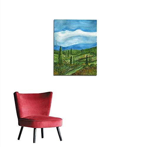 (longbuyer Wallpaper Landscape with Cypress Tree Mural 32