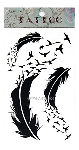 feather-unisex-gothic-removable-waterproof-temporary-tattoo-body-art-stickers