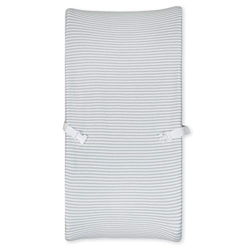 Gerber Organic Changing Pad Cover, Grey Stripe, One Size