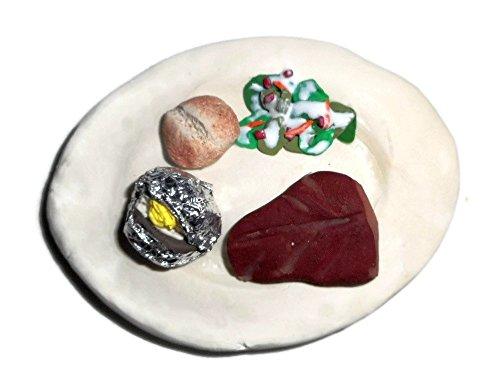 Steak and Baked Potato Dinner Fake Food Magnet (Mom Theme Mod)