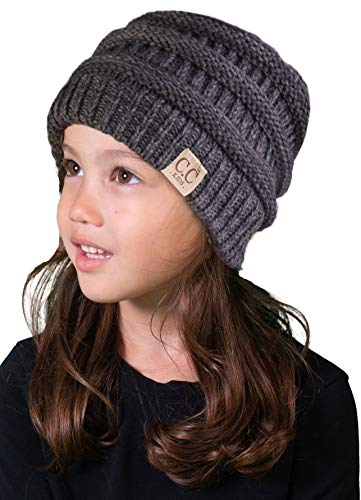 Accessory Boot Tote (H-3847-6221 Kids Beanie (NO POM) - Graphite Grey)