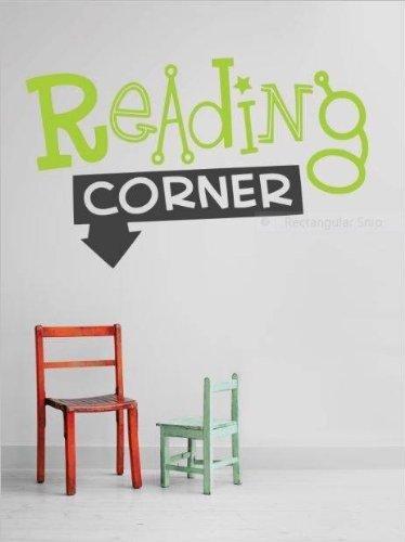 "Design with Vinyl 2015 BS 44 ""Reading Corner School Quiet Study Area"" Wall Decal, 10"" x 20"", As Seen"