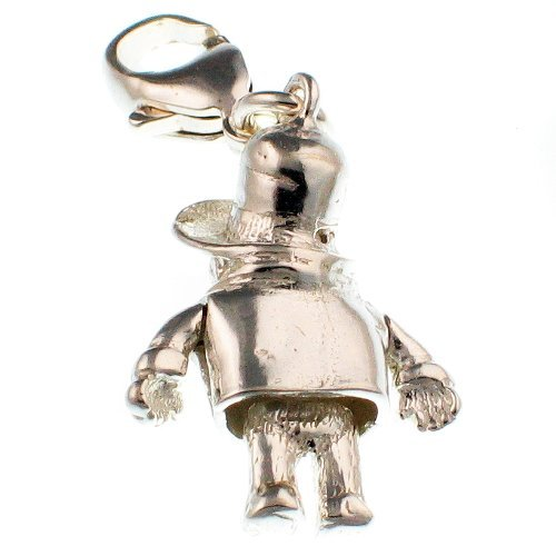 Welded Bliss Sterling 925 Silver Charm, Classic Bear Figure With Duffle Coat And Hat, Clip Fit WBC1160