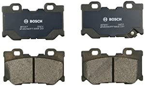 Bosch BP1347 QuietCast Premium Semi-Metallic Disc Brake Pad Set For Select Infiniti FX50, G37, M37, M56, Q50, Q60, Q70, Q70L, QX70; Nissan 370Z; Rear