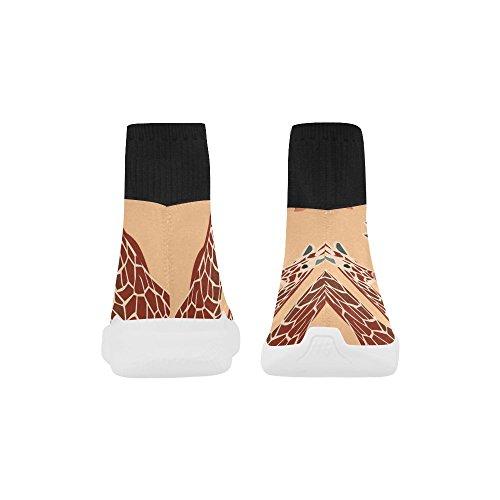 Leinterest Giraff Unicorn Stretch Socka Skor För Kvinnor