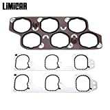 LIMICAR Engine Intake Gasket Set with Upper & Lower Intake Gaskets 12598158 Compatible with 2004-2011 Buick LaCrosse Rendezvous Cadillac CTS SRX STS Chevrolet Malibu Pontiac G6 G8 Saturn Aura 3.6L