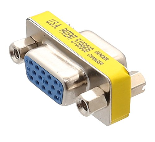 - Connectland VGA HD15 Female to Female Gender Changer Adapter (CL-ADA32012)