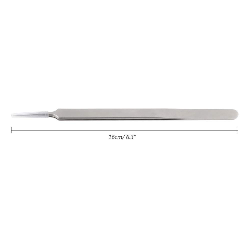 travaux manuels Micro professionnel en m/étal solide de 16/cm de long robuste en acier inoxydable Pince /à /é soudure Ultra Fine Pointe fine Pince /à /épiler pour r/éparation de t/él/éphone portable