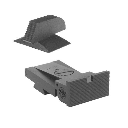 BoMar BMCS 1911 Kensight Sight Set with Square Blade - Serrated 0.190
