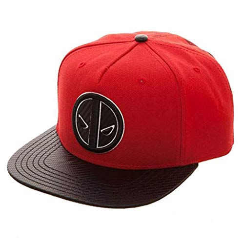 Amazon.com  Marvel Deadpool Carbon Fiber Snapback Baseball Hat  Clothing 86bca0c8e30