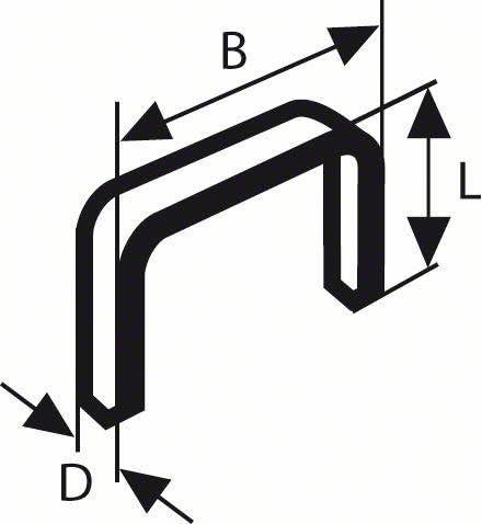 Bosch 2609200208 Agrafe /à fil plat de type 52 12,3 x 1,25 x 14 mm 1000 pi/èces