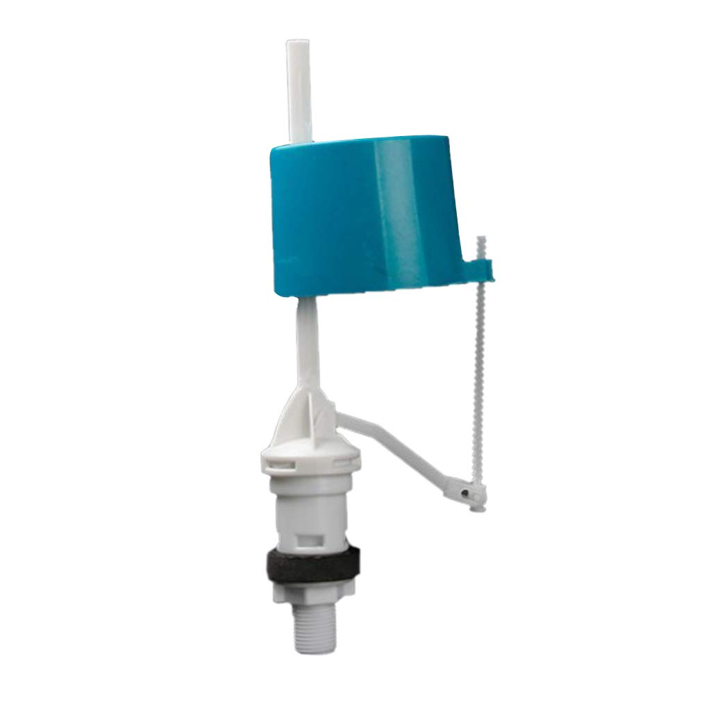 as described Fenteer WC Cistern Replacement Float Inlet Valve Bottom Water Tank Fill in Water Flow Toilet Flush Valves Universal