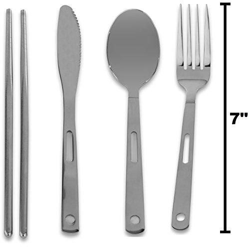 Cutlery organizer pouch 13 piece silverware table for Vertical silverware organizer