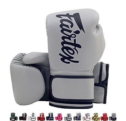 Fairtex Muay Thai Boxing Gloves BGV14 Gray 16 oz Universal All Purposes Training Gloves for Kickboxing MMA (Fairtex Muay Thai Ankle Supports)